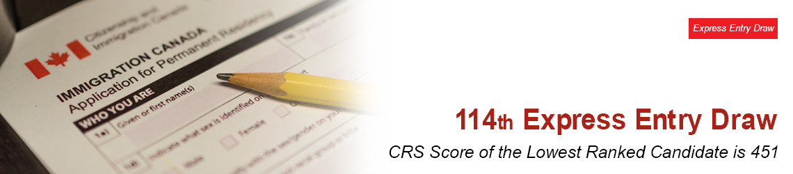 The 114th Express Entry Draw | Cut-off CRS Score Has