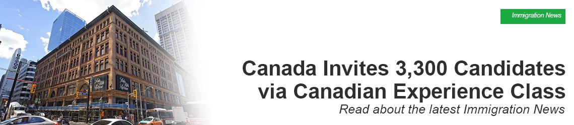 Express Entry Draw | Canada Invites 3,300 Candidates via CEC